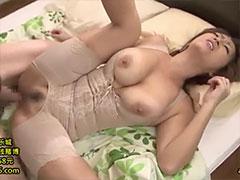 人妻の補正下着着衣セックス
